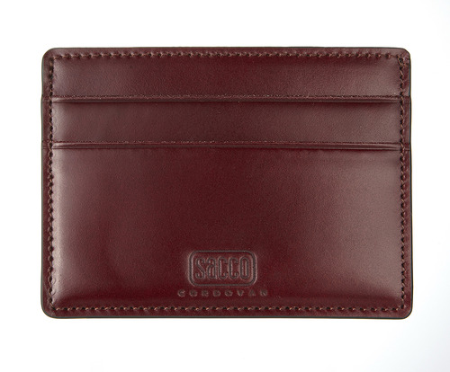 cordovan card case burgundy