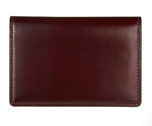 cordovan business card wallet burgundy