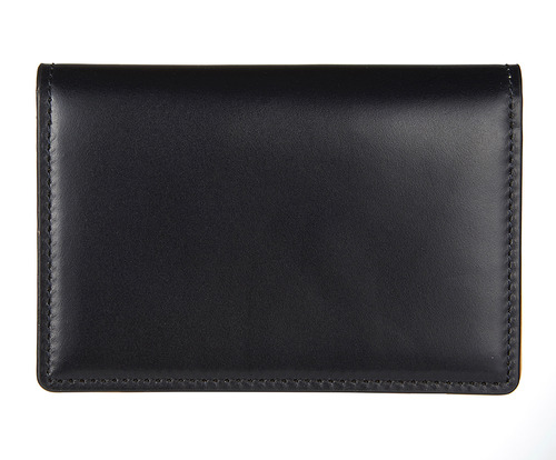cordovan business card wallet navy