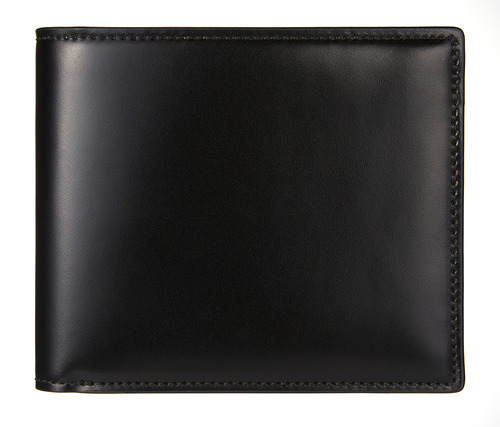 cordovan middle wallet black