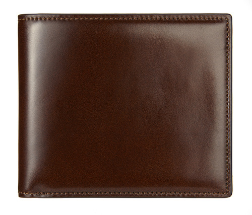 cordovan middle wallet brown