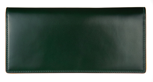 cordovan long wallet green
