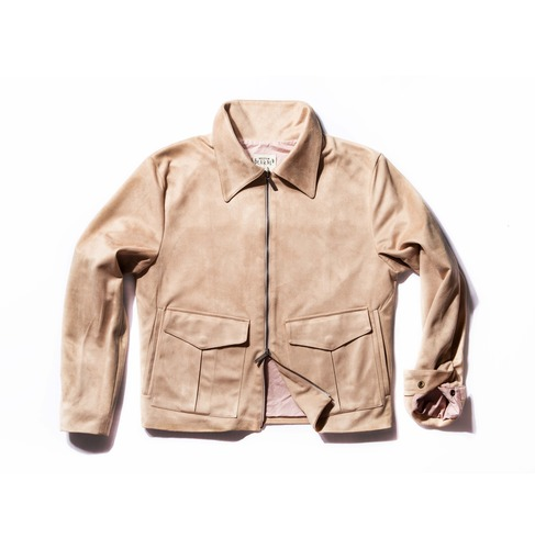 Suede jacket_ivory - BEARDED KID