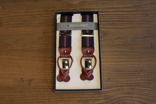BRETELLE BRACES - RED&NAVY