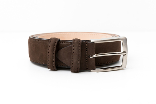 BRACES & BRETELLE SUEDE BELT (BROWN)