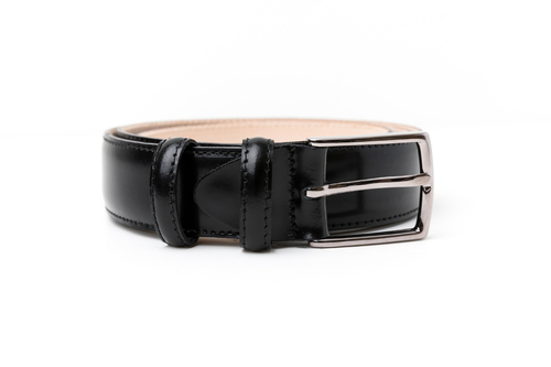 BRACES & BRETELLE  LEATHER BELT (BLACK)