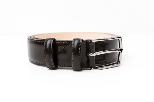 BRACES & BRETELLE LEATHER BELT (BROWN)