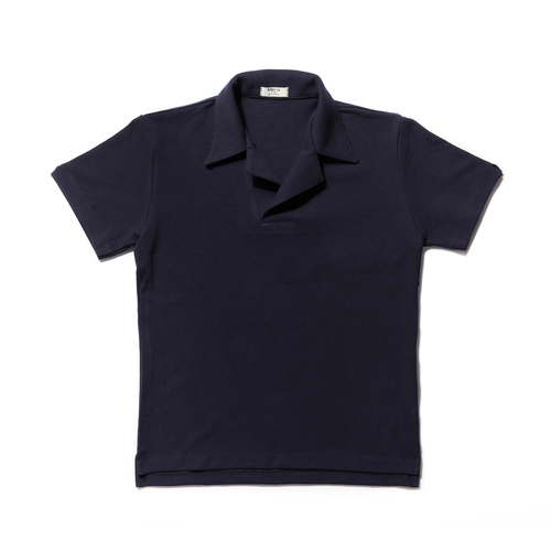 Terry Cotton Polo_navy