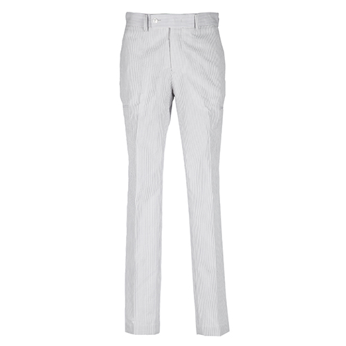 SEERSUCKER CARGO PANTS - GRAY
