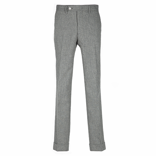 LINEN TROUSERS - GRAY
