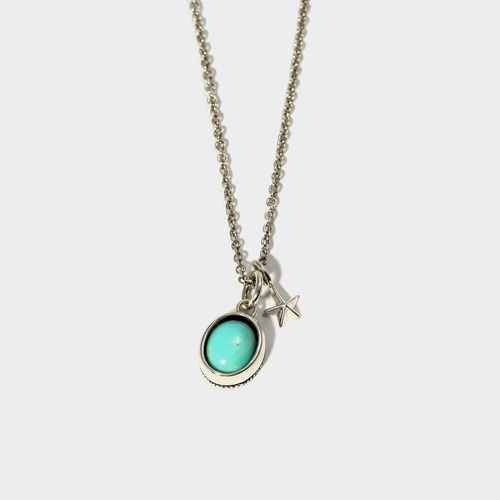 Turquoise Star Charm Necklace- BRACELET of KEIO -
