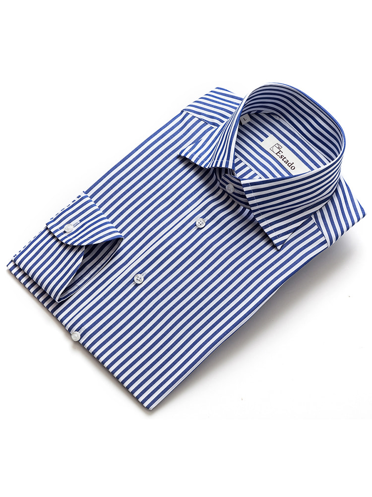 Cotton shirts - Narrow Stripe (Navy)