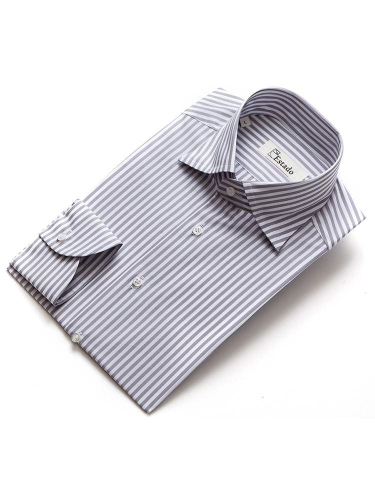 Cotton shirts - Narrow Stripe (Gray)