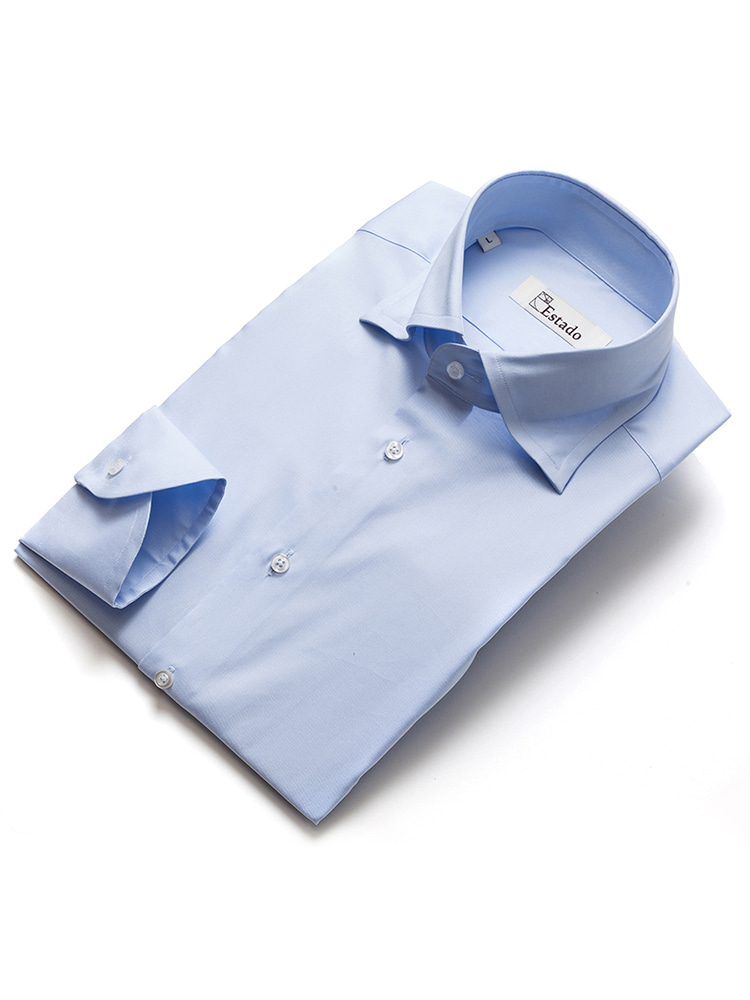 Cotton shirts - Solid (Wide collar/SkyBlue)ESTADO(에스타도)
