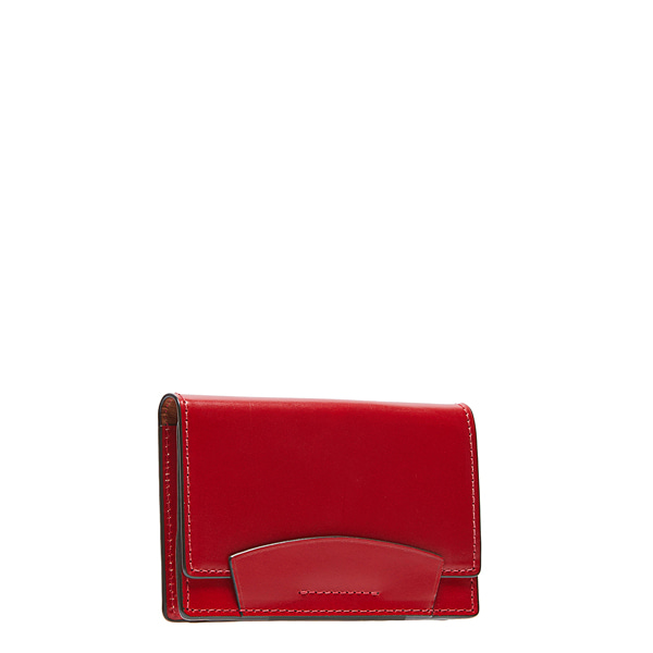 Red Bridle Leather Card case