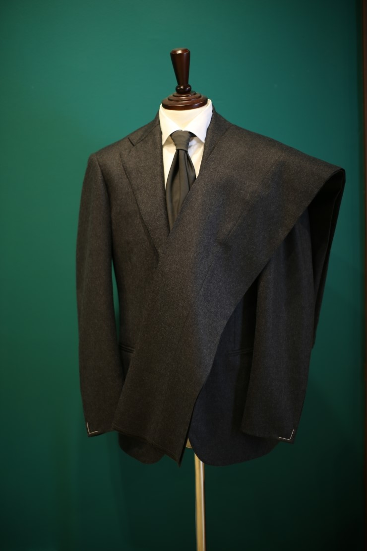 Lamarche Napoli grey flannel suit made by RingJacket(라마르쉐나폴리by링자켓)