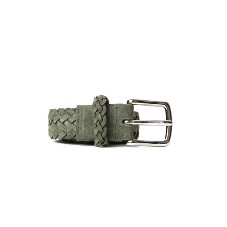 BRAIDED SUEDE BELT (GREEN) Esfai(에스파이)