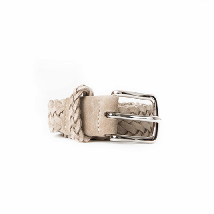 BRAIDED SUEDE BELT (SAND)Esfai(에스파이)