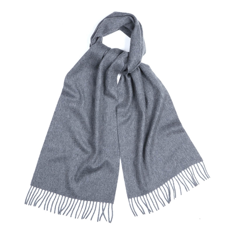MEDIUM GREY CASHMERE SCARF