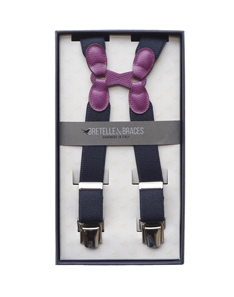 Braces & Bretelle Suspenders (purple&navy)