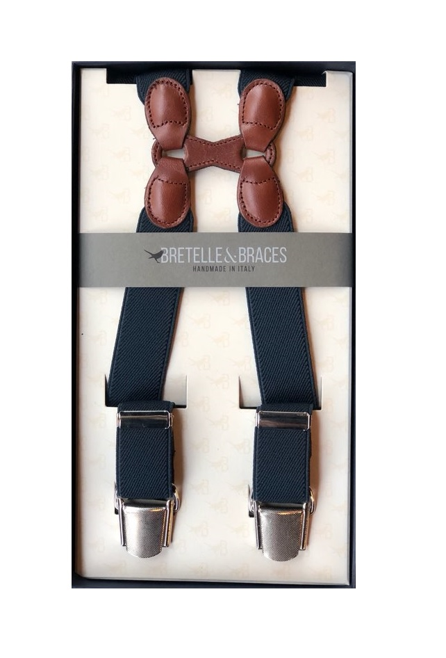 Braces & Bretelle Suspenders(navy&brown)