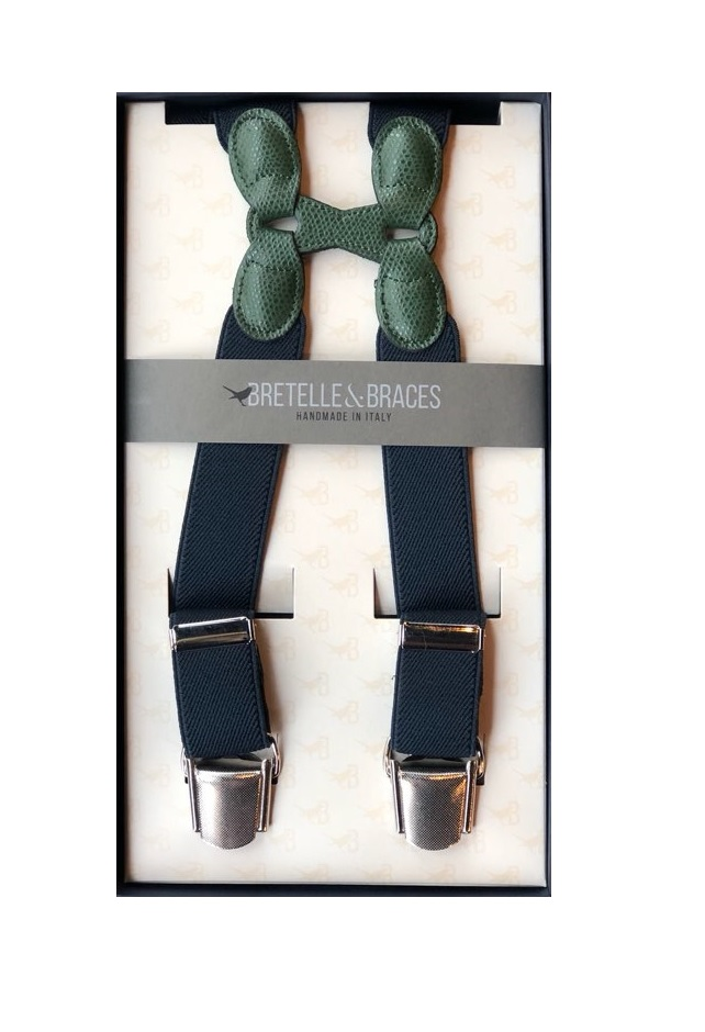 Braces & Bretelle Suspenders(navy&green)