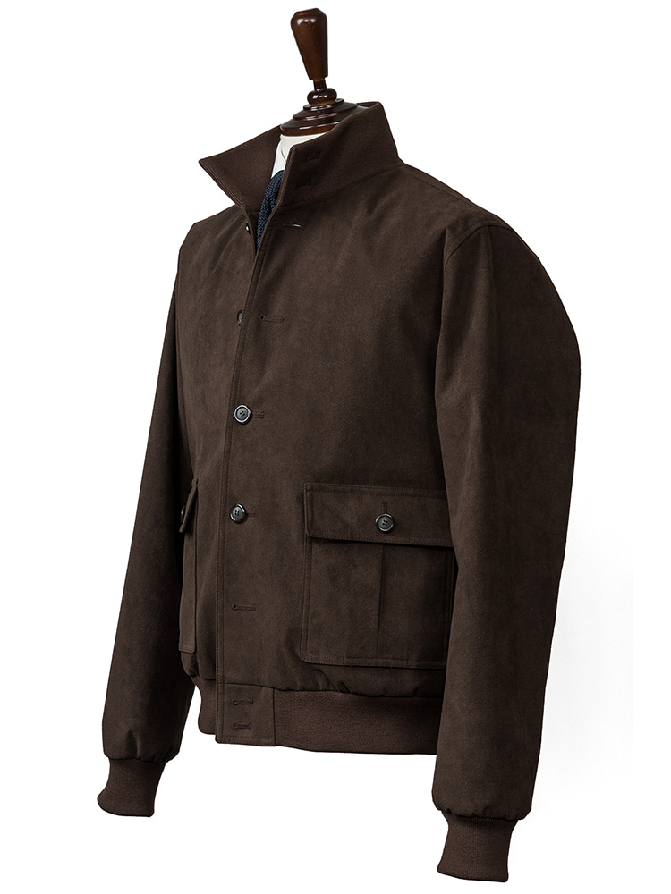 ALCANTARA A-1 blouson jacket (Brown)ESTADO(에스타도)