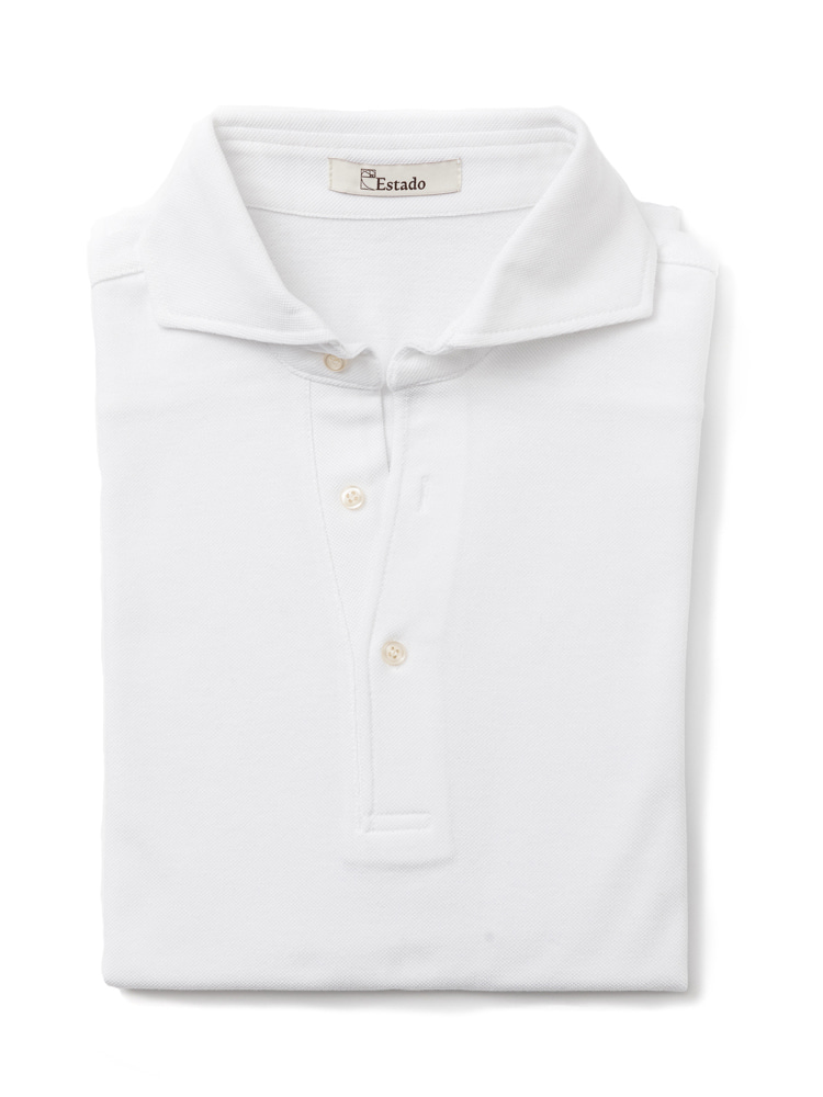 Pique shirts - Wide collar (White)ESTADO(에스타도)