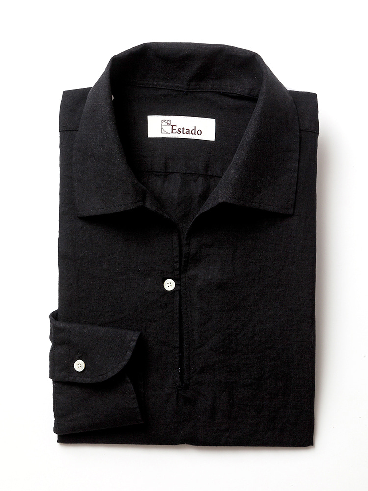 Linen shirts - Capri (Black)estado(에스타도)