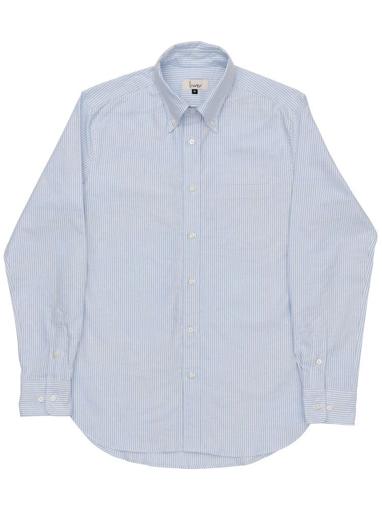 lvr oxford shirt (Blue and White Stripe)livrer(리브레)