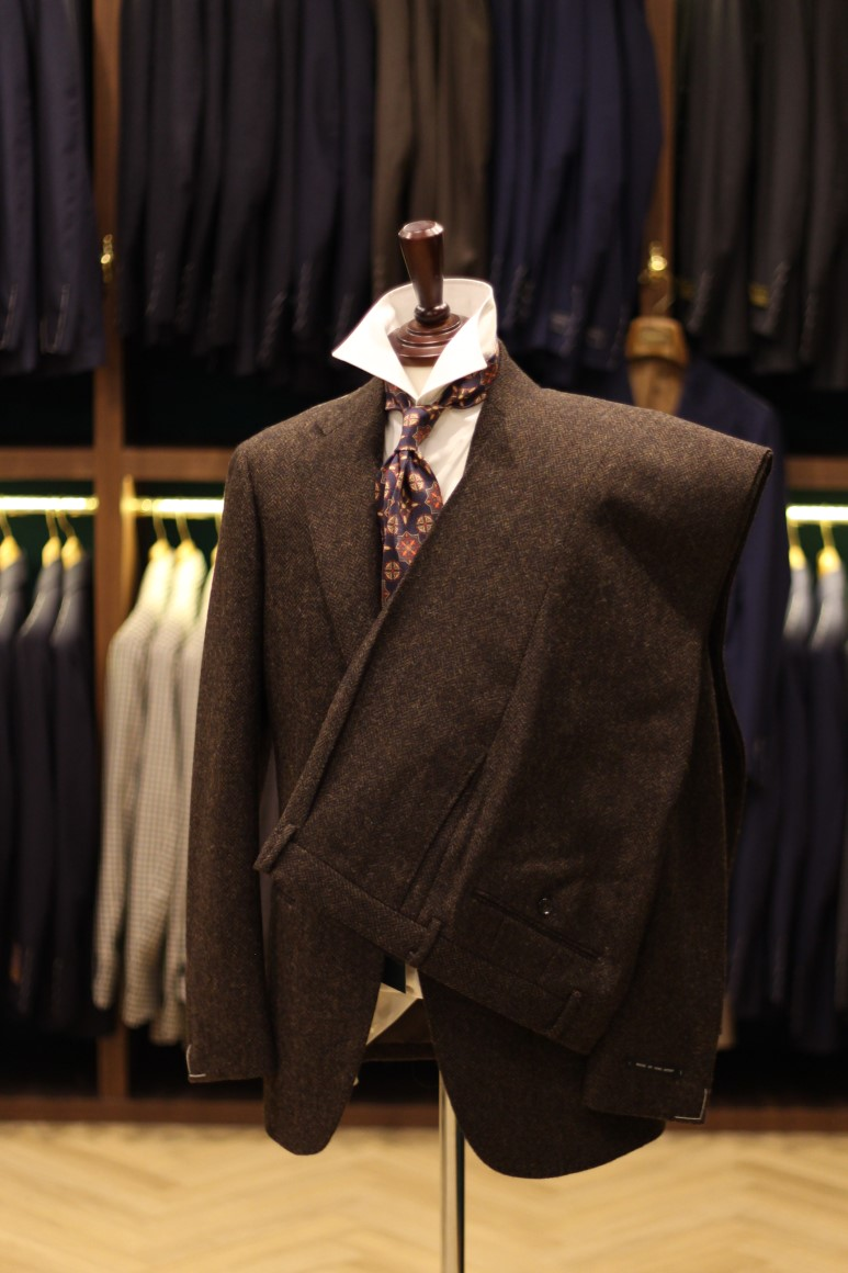 Moon Tweed Dark Brown Herringbone Suit  Lamarche Napoli made by RingJacket(라마르쉐나폴리by링자켓)