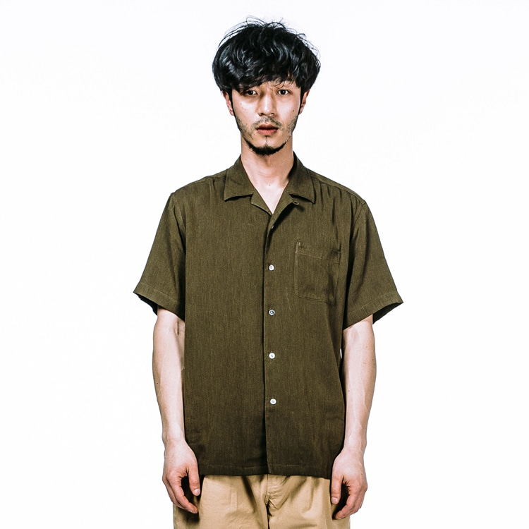 ES CAMP-COLLAR KHAKI SHIRTESFAI(에스파이)