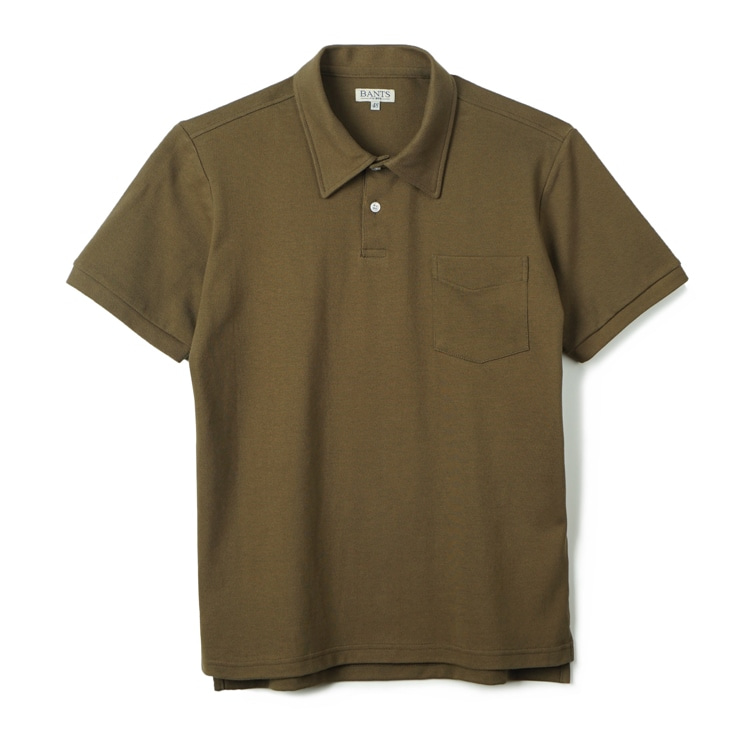 GTB Cotton Pique Polo Shirt Half - oliveBANTS(반츠)