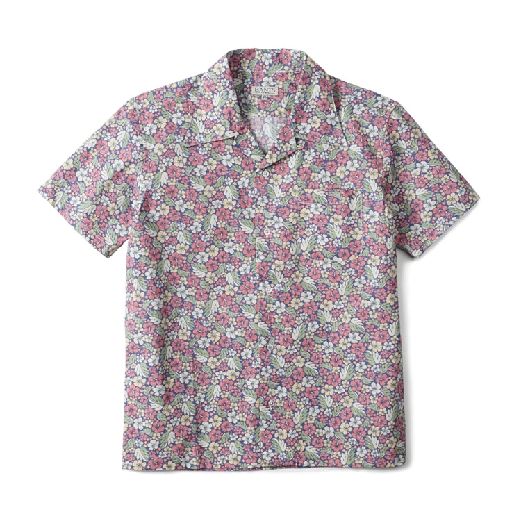 GTB Aloha Cotton Open Collar Shirt Half - PinkBANTS(반츠)
