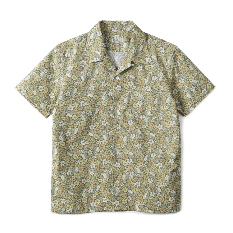 GTB Aloha Cotton Open Collar Shirt Half - GreenBANTS(반츠)