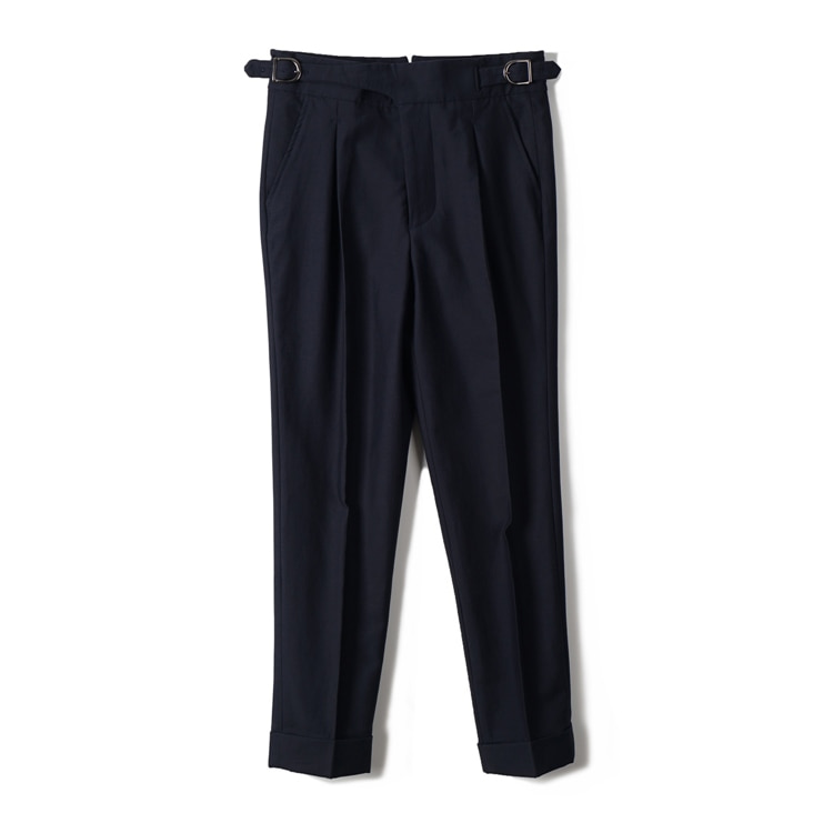 GTB Cotton Linen Gurkha Pants - NavyBANTS(반츠)