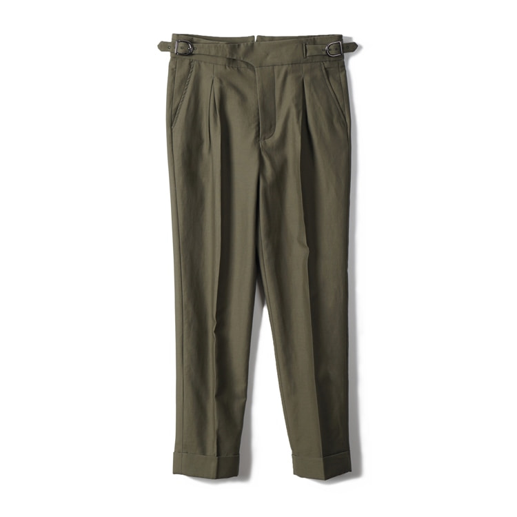 GTB Cotton Linen Gurkha Pants - OliveBANTS(반츠)