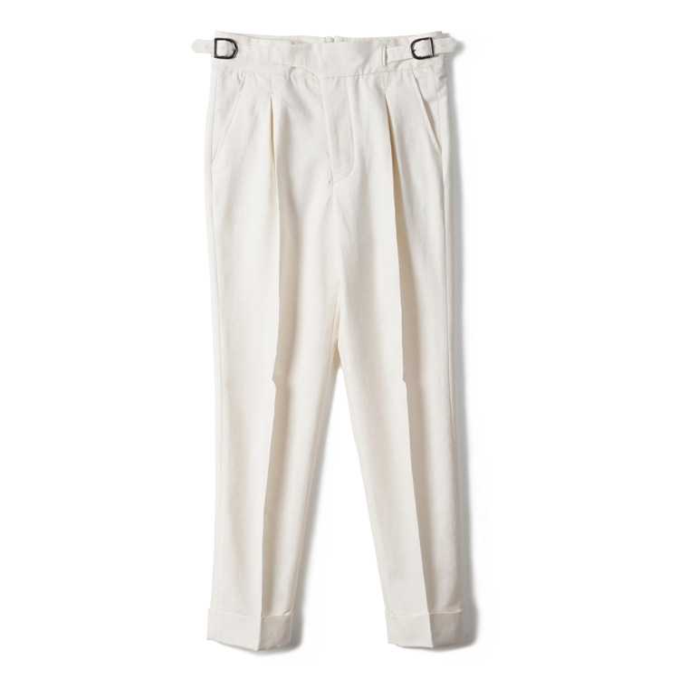 GTB Cotton Linen Gurkha Pants - IvoryBANTS(반츠)