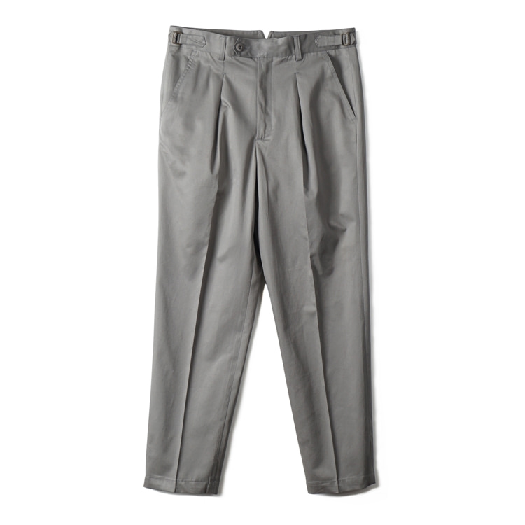 GTB Cotton One-tuck Pants - GreyBANTS(반츠)