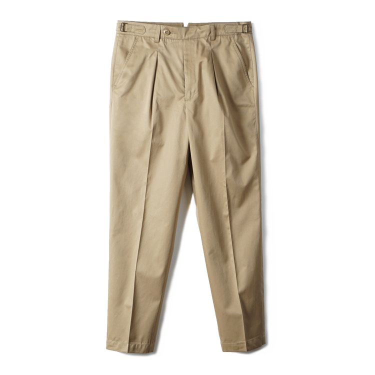 GTB Cotton One-tuck Pants - KhakiBANTS(반츠)