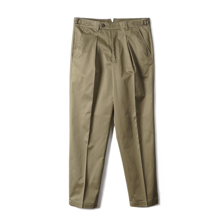 GTB Cotton One-tuck Pants - OliveBANTS(반츠)