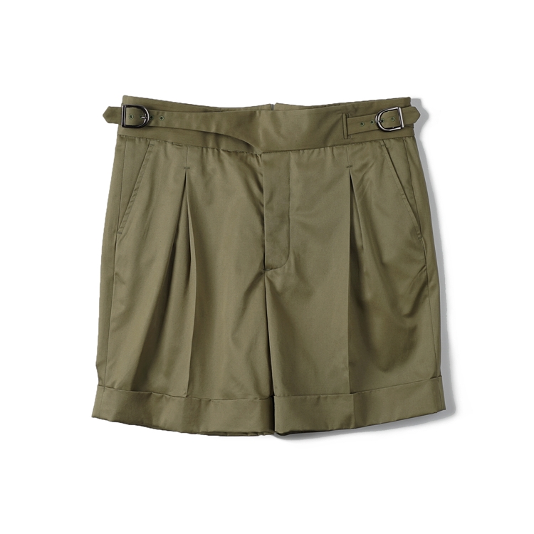 GTB Cotton Gurkha Shorts - OliveBANTS(반츠)