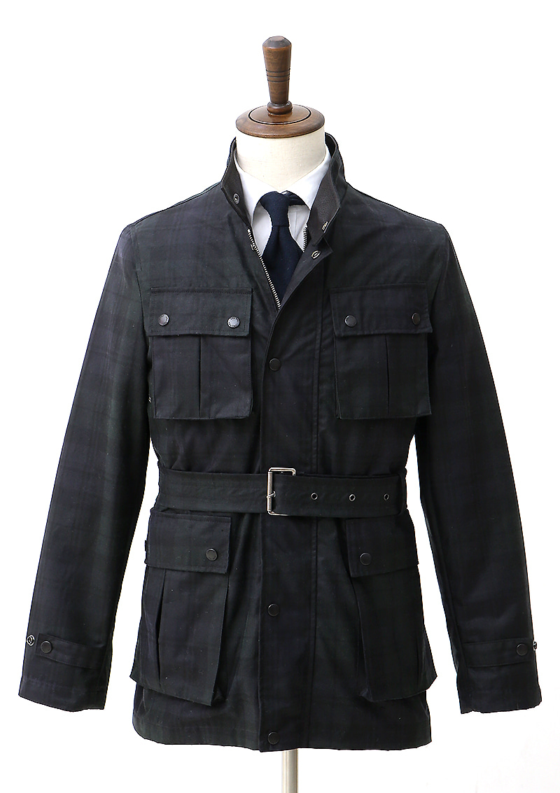 Motor Jacket - Black Watch Tartan CheckCENTRO(첸트로)