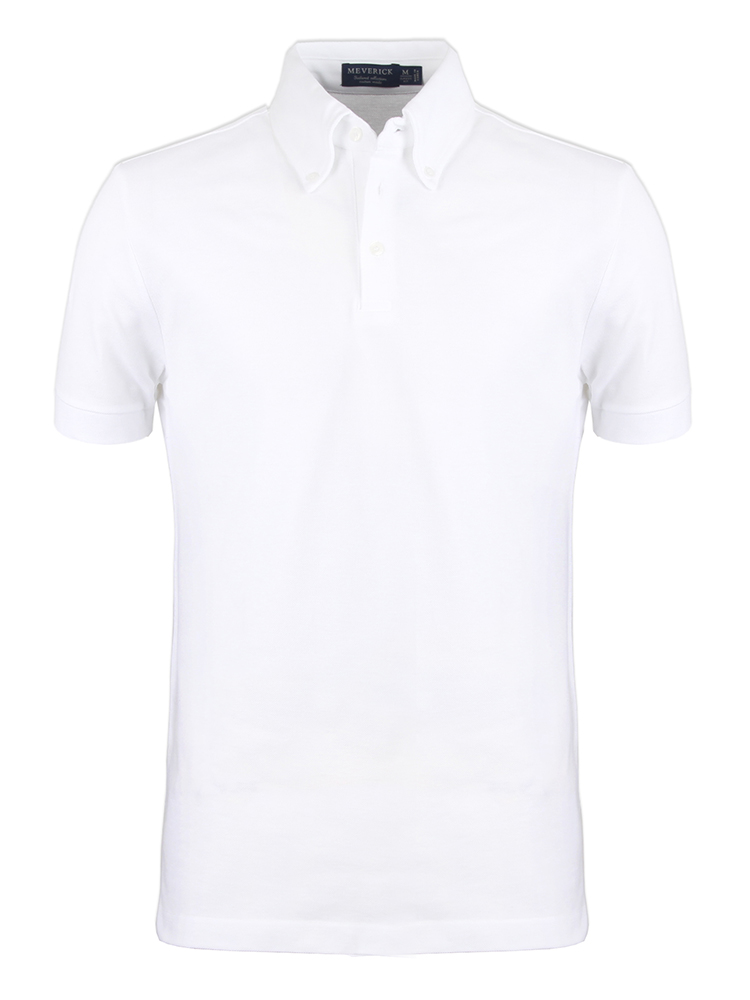 Down Button - Pique shirts ( White )meverick(메버릭)