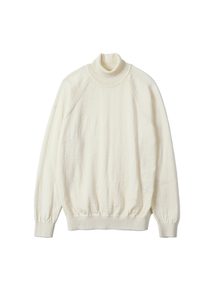 BTS Merino Wool Raglan Turtleneck Knit - IvoryBANTS(반츠)