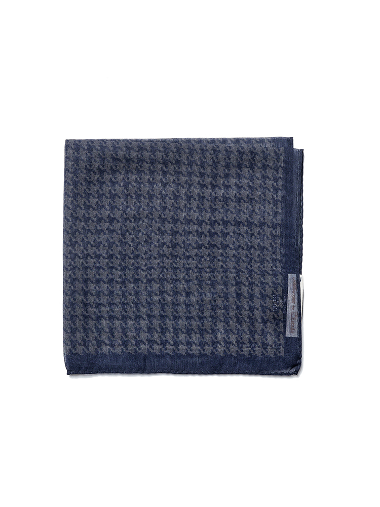pocket squares 02 - Navy houndtooth patternEstado x Albeni(에스타도)