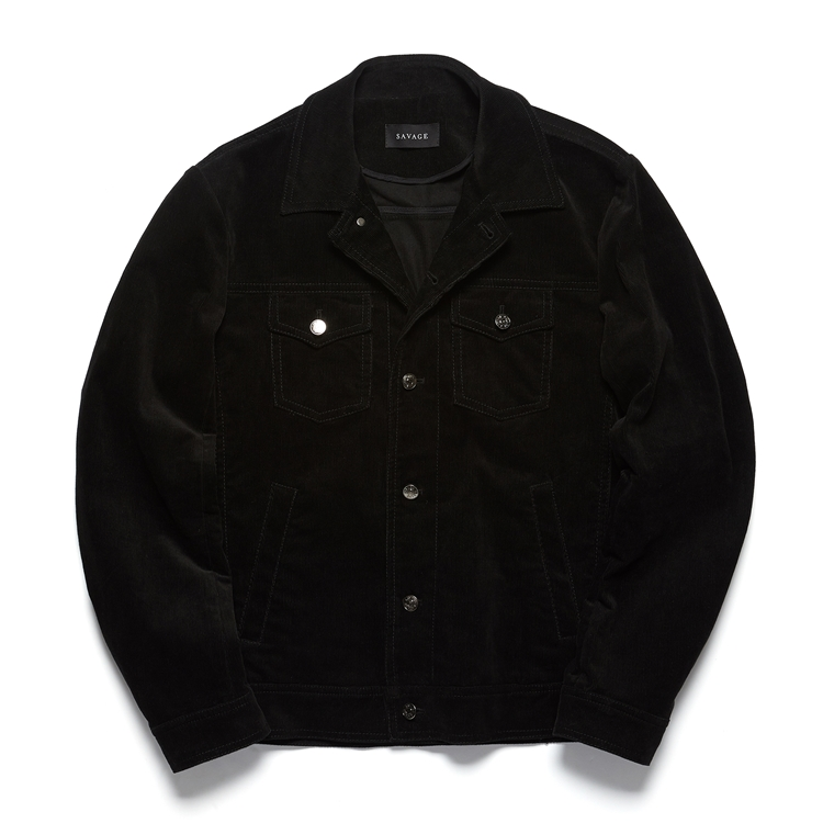 Black Corduroy Trucker JacketSAVAGE(세비지)