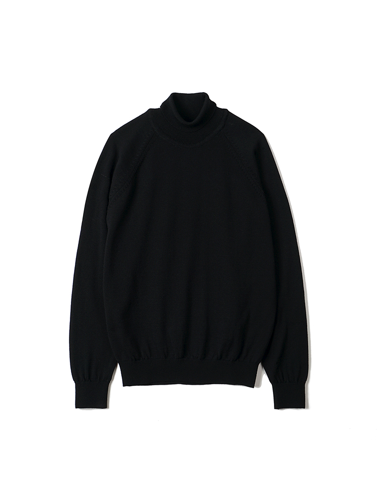 BTS Merino Wool Raglan Turtleneck Knit - BlackBANTS(반츠)