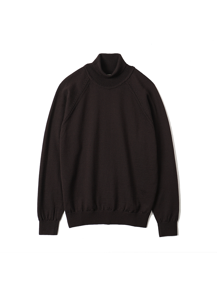 BTS Merino Wool Raglan Turtleneck Knit - BrownBANTS(반츠)