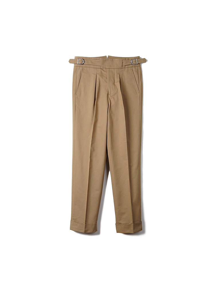BTS Cotton Gurkha Pants - KhakiBANTS(반츠)